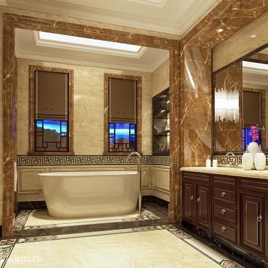 卫生间浴柜效果图图片