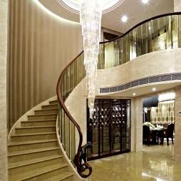 现代家庭楼梯装修效果图