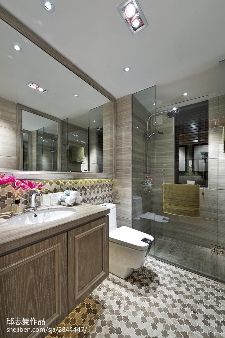 卫生间隔断效果图_美式卫生间地面贴砖装修图片 – 设计本装修效果图