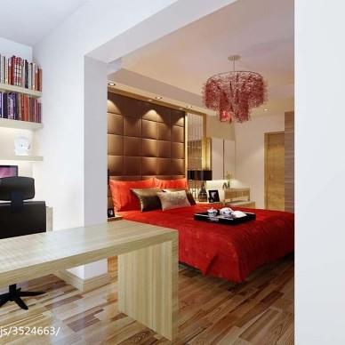 现代布置婚房卧室效果图