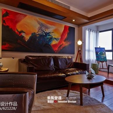 混搭风格客厅沙发背景墙设计效果图