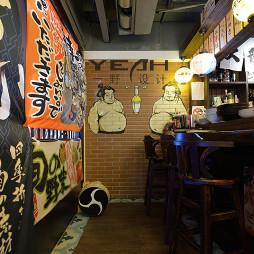 日式餐厅装修效果图大全2017图片