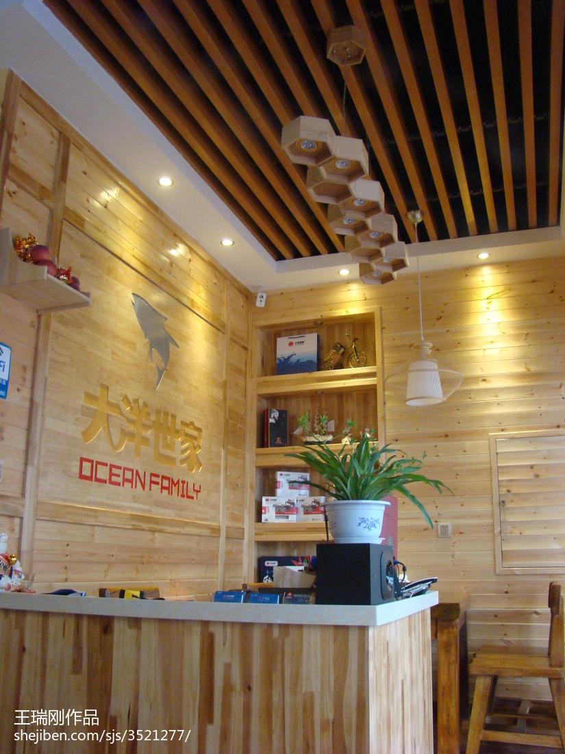 原生态餐厅收银处装修效果图