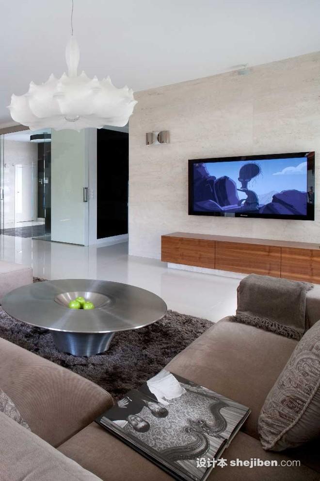 生活资讯_简单大方电视墙效果图欣赏 – 设计本装修效果图