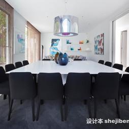 家装白色餐桌装修效图片