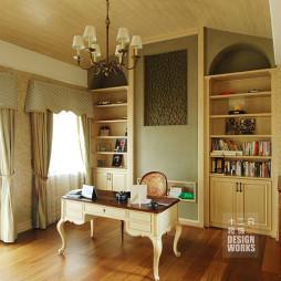 混搭书房书桌设计效果图