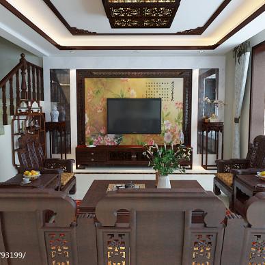 中式客厅电视墙装修效果图图库