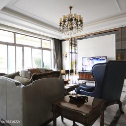 别墅新古典客厅电视墙装修设计