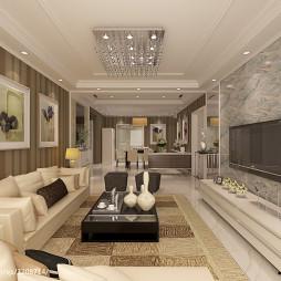 现代客厅色彩装饰画图片