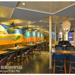 混搭風格中餐廳設計效果圖大全