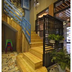 混搭风格中餐厅楼梯设计效果图