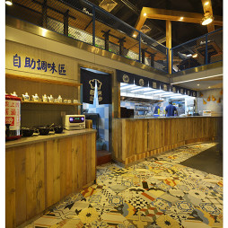 混搭風格中餐廳廚房裝修設計