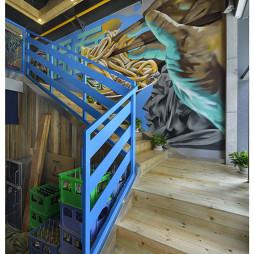 混搭风格中餐厅楼梯装修设计