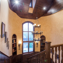 美式售楼中心楼梯样板间装修设计
