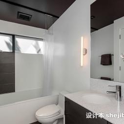 黑白卫生间效果图