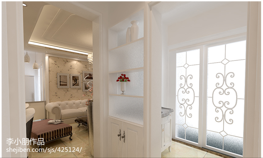 客厅鞋柜装修效果图片
