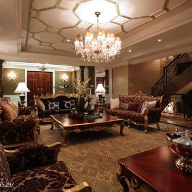 别墅混搭风格客厅装修设计图片