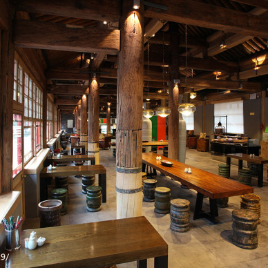 复古中餐厅装修设计效果图大全