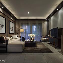 新中式客厅吊顶设计样板房图片