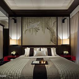 新中式卧室窗户装修设计