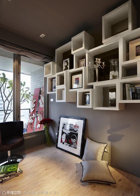 玻璃展示柜_152平米装修案例_效果图 - 净、透、亮 空中景观住宅 - 设计本