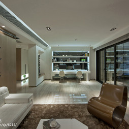 现代跃层样板房书房设计
