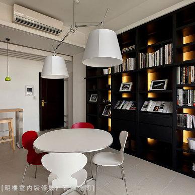 现代风书房客厅设计图