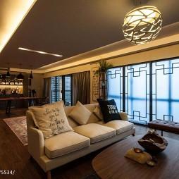 中式样板房客厅吊顶设计