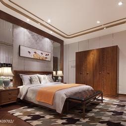 实木家具展厅卧室衣柜设计