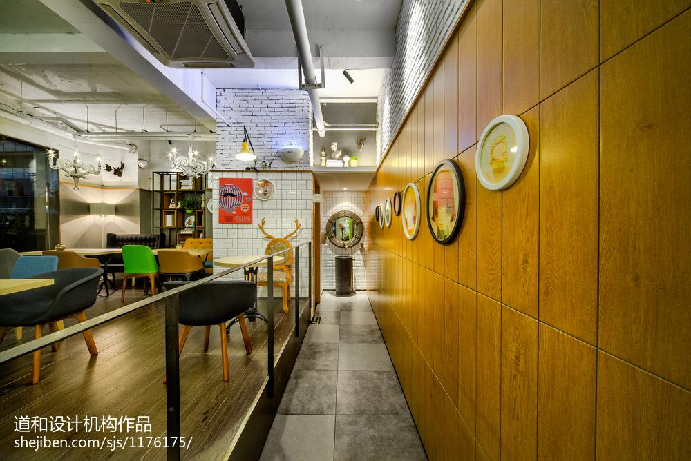 AI爱卡餐轻食咖啡厅背景墙设计