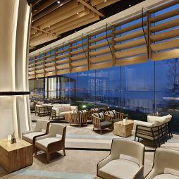海玥餐厅落地窗装修设计