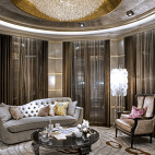 欧式风格客厅窗帘装修设计