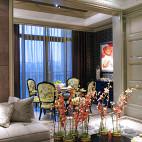 欧式风格餐厅窗帘装修效果图