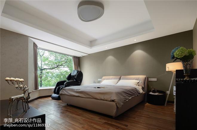 复式楼现代风格卧室窗户装修设计