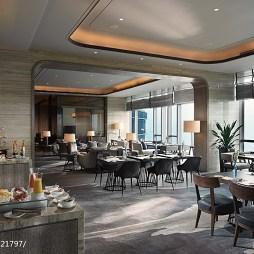 精品酒店西餐厅吊顶装修效果图