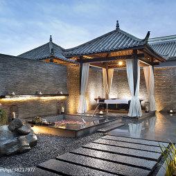 中式度假酒店花园装修设计