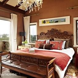混搭样板房卧室阳台装修效果图