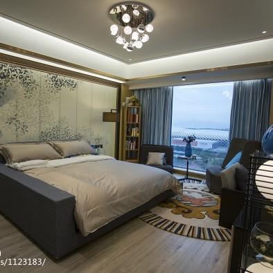 现代奢华风格卧室窗帘装修设计