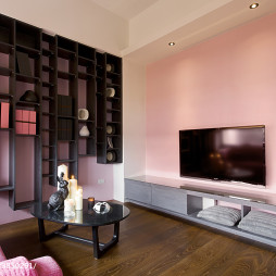 现代简约风格客厅博古架装修设计