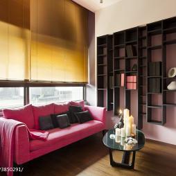 现代简约风格客厅窗帘装修设计