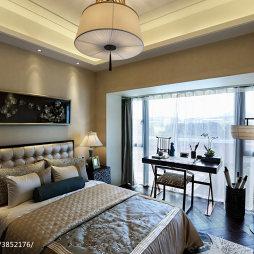 混搭风格样板房卧室阳台装修效果图