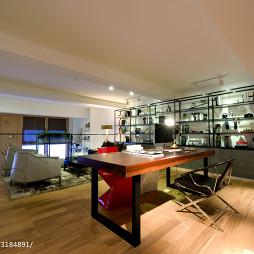 LOFT办公室博古架装修设计