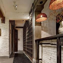 混搭中式饭店过道装修设计