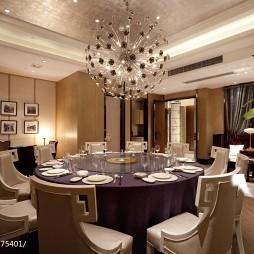 高级大饭店餐厅吊顶装修设计