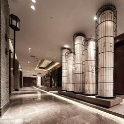高级大饭店过道吊顶装修设计