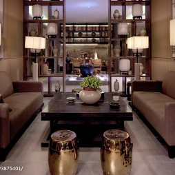 高级大饭店博古架装修设计