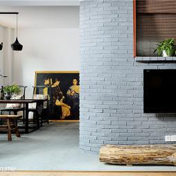 后现代中式客厅隔断装修设计