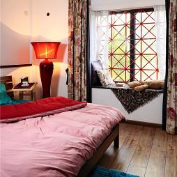 后现代中式卧室窗台设计