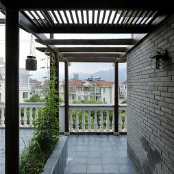 乡村中式别墅阳台设计