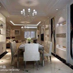 中式走廊吊顶墙装饰图片